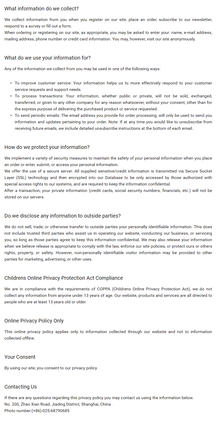 Privacy Policy- halide crylink